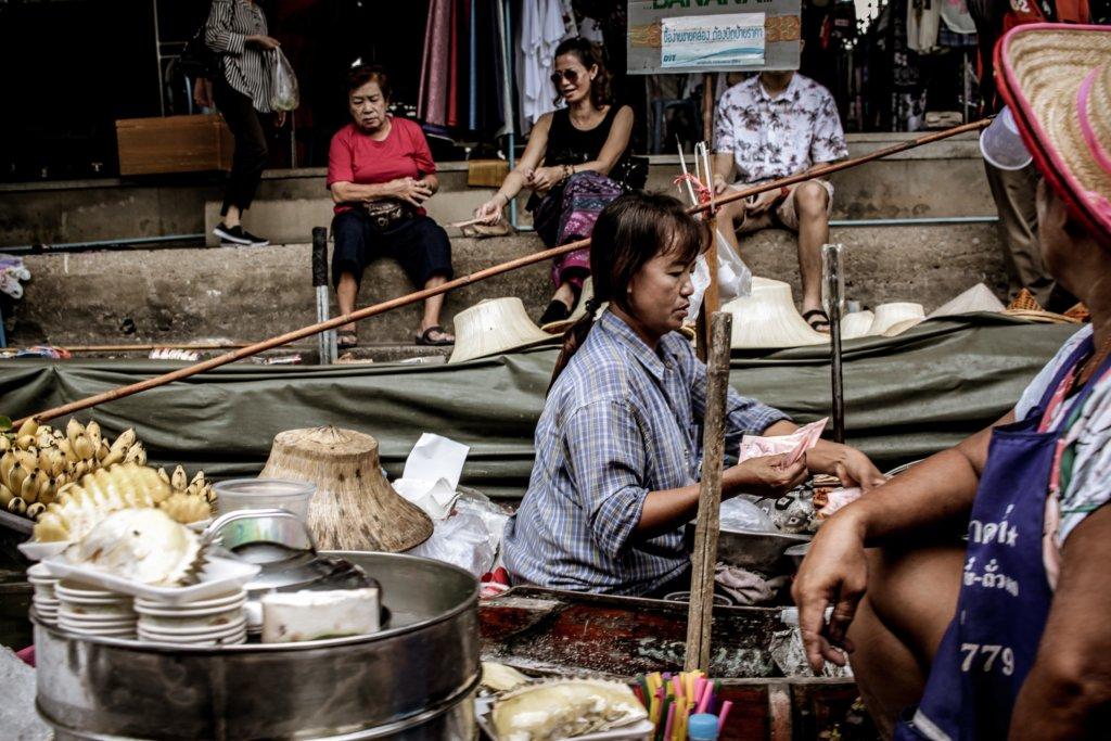 Geld in Thailand - afrekenen bij de markt