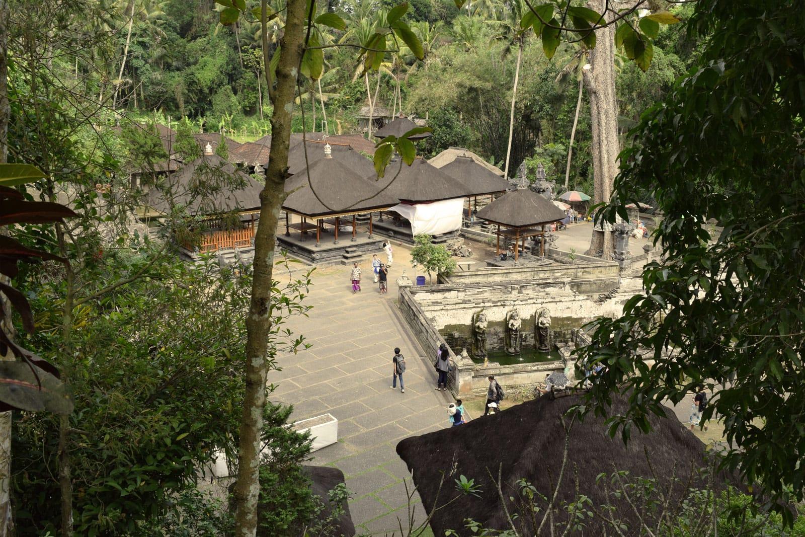 Het tempelcomplex van bovenaf