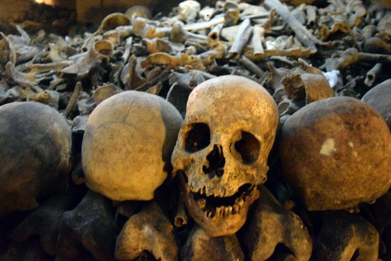 Catecomben in Parijs het rijk van de dood