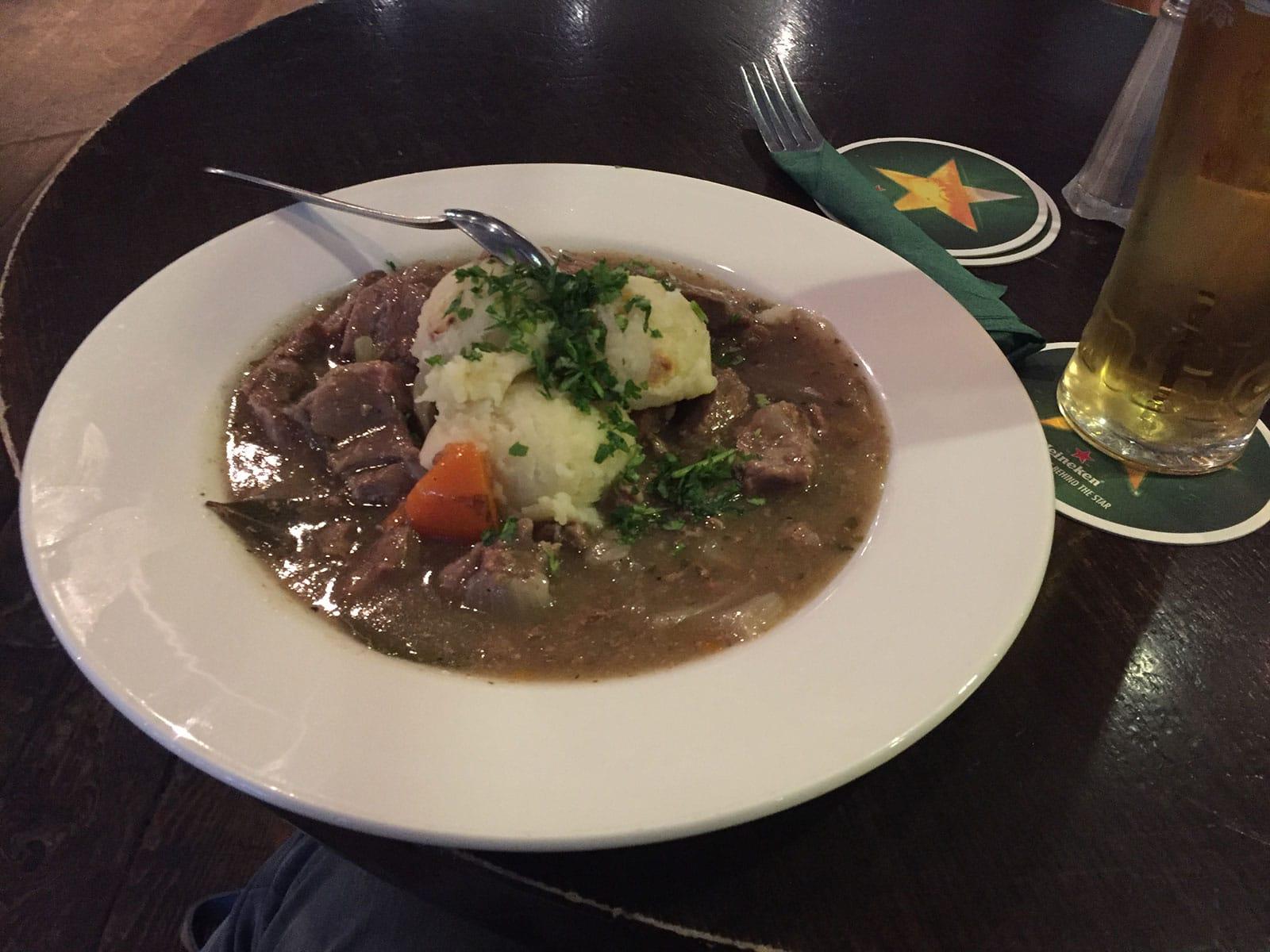 Stedentrip Dublin - Irish Stew