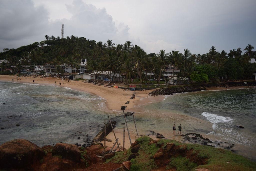 Mirissa strand - foto vanaf parrot rock