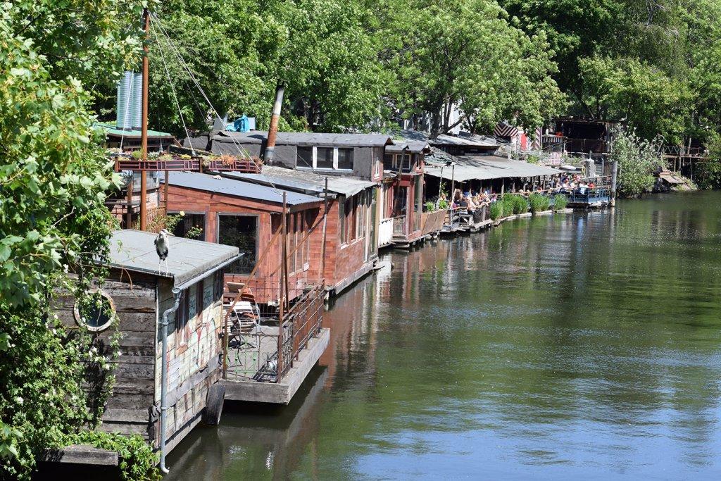 Kreuzberg, alternatieve houten huisjes in Berlijn