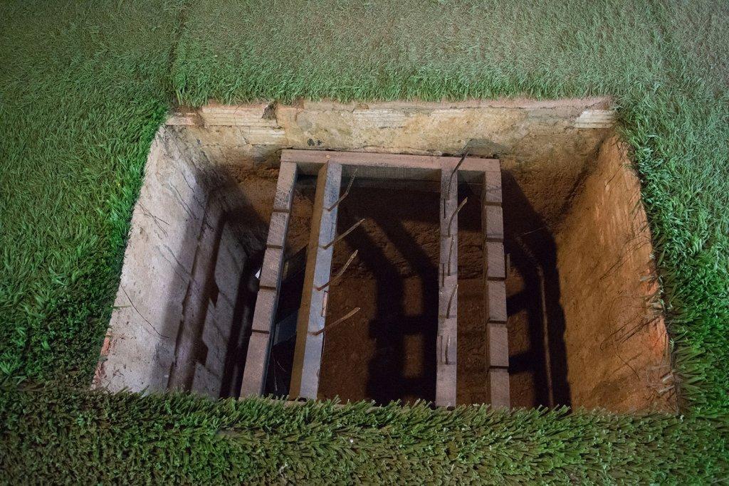 Boobytraps bij de Vietcong tunnels in Vietnam