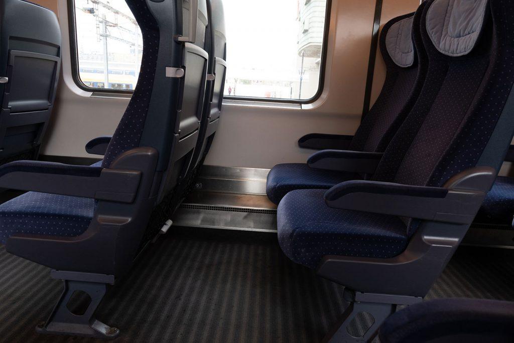 Stoelen trein naar Berlijn