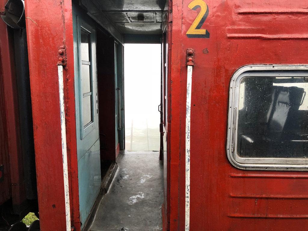 Uitzicht op een andere trein