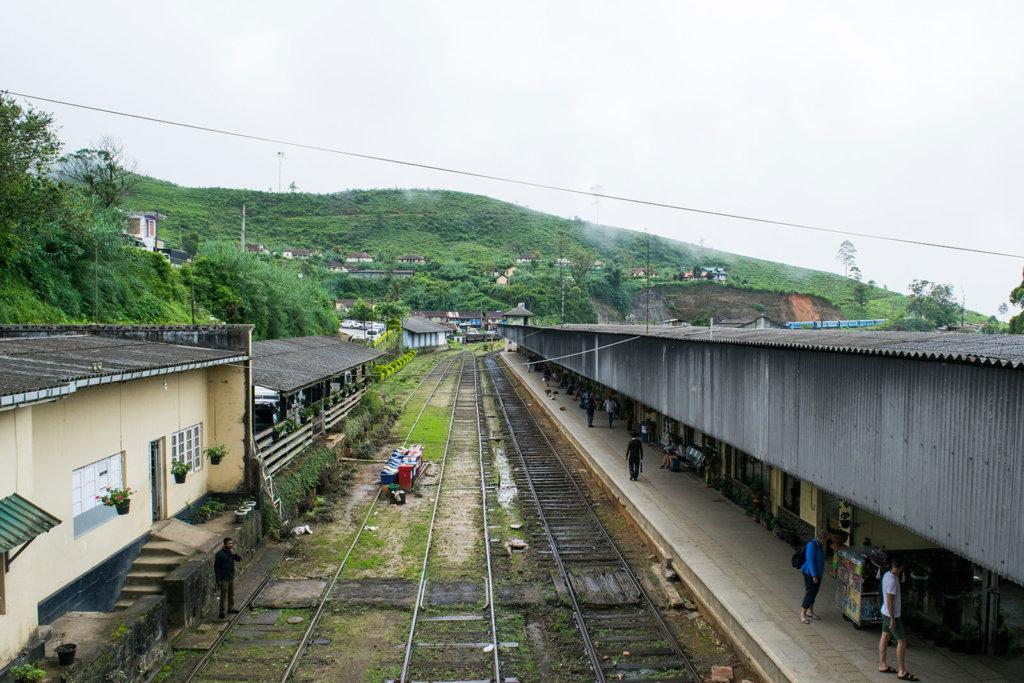 Trein station van Nuwara Eliya
