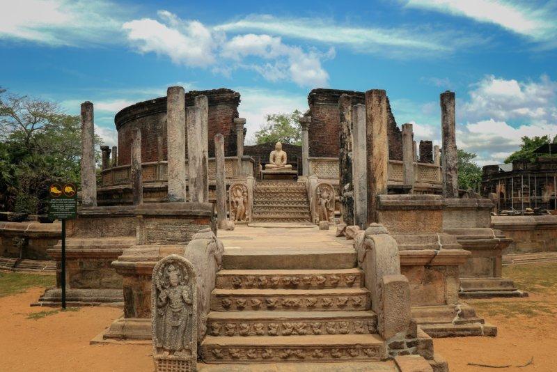 Polonnaruwa de oude kongstad van Sri Lanka